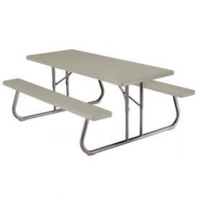 Where to find PICNIC TABLE W BENCH  PLASTIC in Denver
