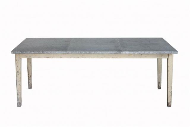 Where to find GALVANIZED METAL   WOOD TABLE in Denver