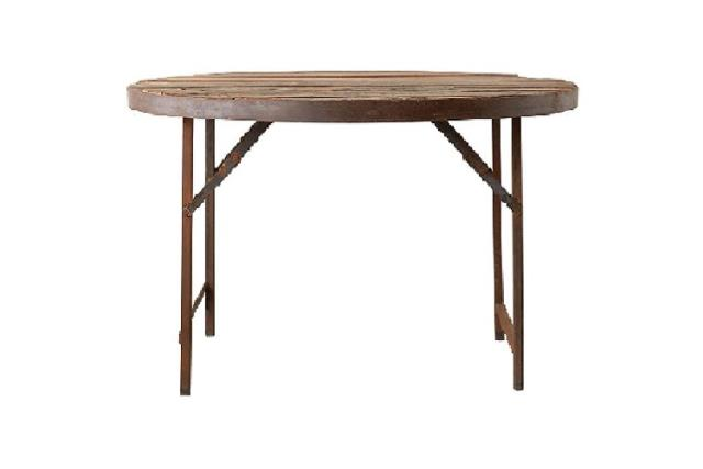 Where to find DISTRESSED 48  ROUND WOOD TABLE in Denver