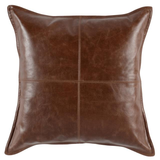 Where to find KONA BROWN LEATHER PILLOW in Denver