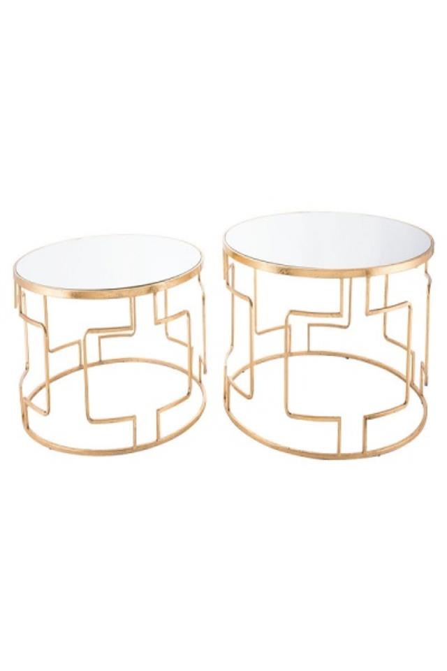 Where to find KING GOLD TABLES  SET OF 2 in Denver