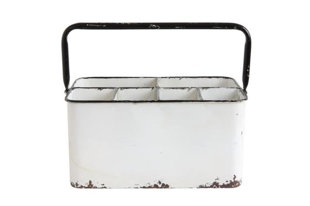 Where to find WHITE ENAMEL CADDY  6 COMPARTMENTS in Denver
