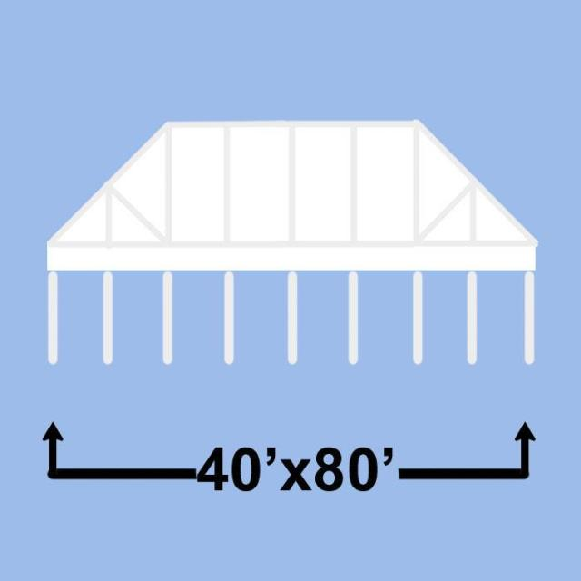 Where to find 40  X 80  CLEAR FRAME TENT in Denver